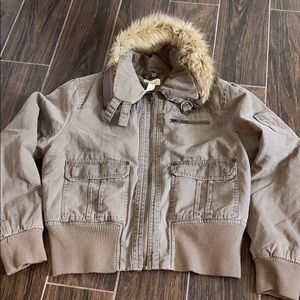 Miss Bisou bomber jacket with faux fur
